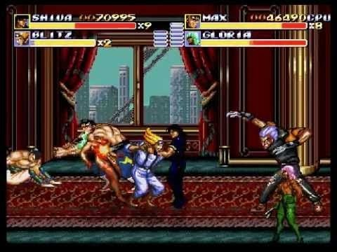 Streets Of Rage Remake V5 HARDEST TROLL MOD Route 1 Boss Rushes Of Rage EXTENDED