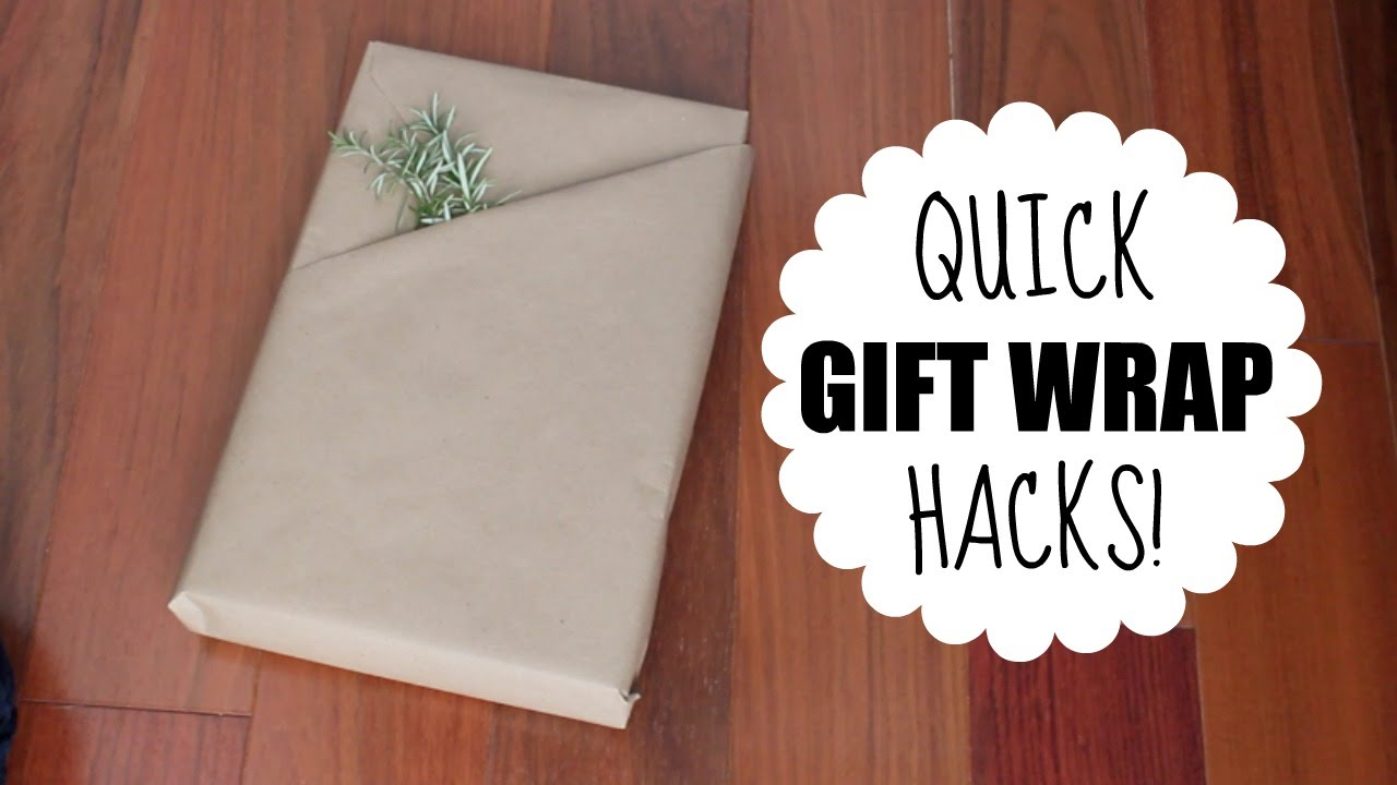 quick gift wrap hacks youtube