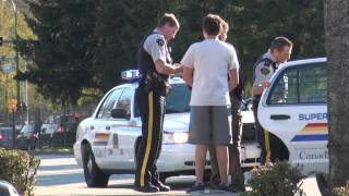 Paintball Gun Police Takedown At Gunpoint Coquitlam City April 2013