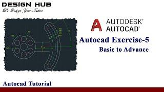 AutoCAD exercise 5 | basic to advance|