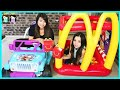 McDonald's Drive Thru Prank Inflatable Giant Ball Pit + McDonald's Indoor Playground Power Wheels