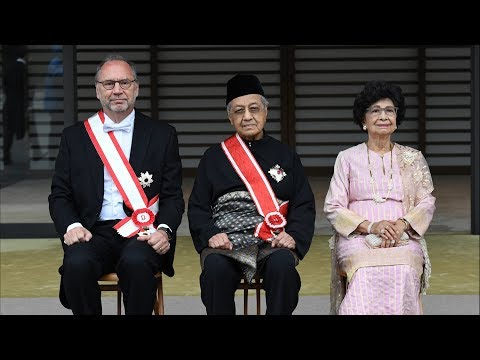 Dr Mahathir conferred Japans highest award
