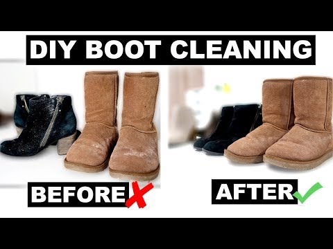 DIY Boot Cleaning - Removing Salt Stains & Glitter from Boots | Jenelle Nicole