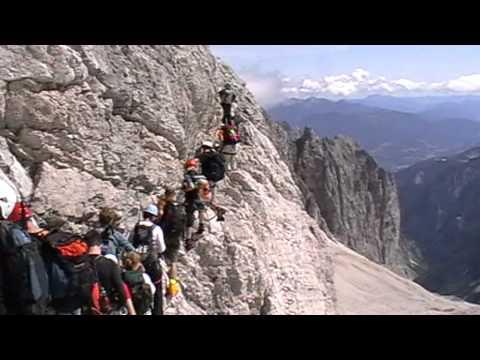 Klettersteig Höllental : Zugspitze über höllental klettersteig youtube