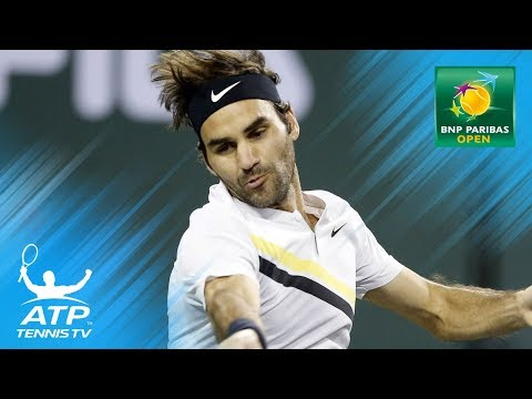 Record-breaking Federer & delightful Del Potro   Day 10 Indian Wells highlights thumbnail