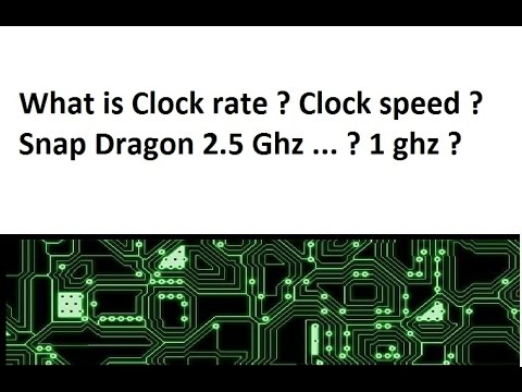[Hindi/urdu]  processor Clock Speed? clock rate? what is Gzh in Snapdragon 820 chipset 2.5ghz