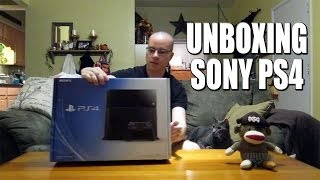 Sony PS4 Playstation 4 Launch Edition 500gb - The unboxing, setup, and system config video
