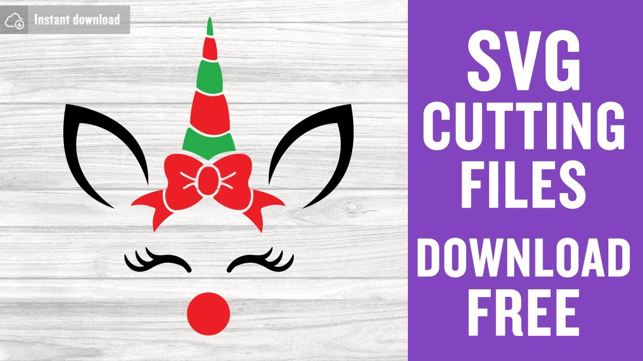 Christmas Unicorn Svg Free Cutting Files For Cricut Brother Scanncut Free Download Youtube