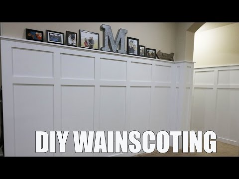 DIY WAINSCOTING for HALF THE COST 💵