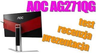 aoc ag271qg agon gamingowy monitor z matrycą ips i g sync test recenzja opinia prezentacja