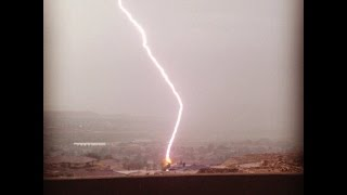 Lightning..... A bolt a stones throw away from where I was standing.