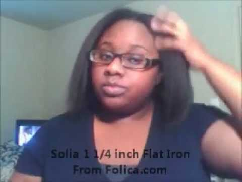 Flat Iron Tutorial W Solia 1 4 Inch