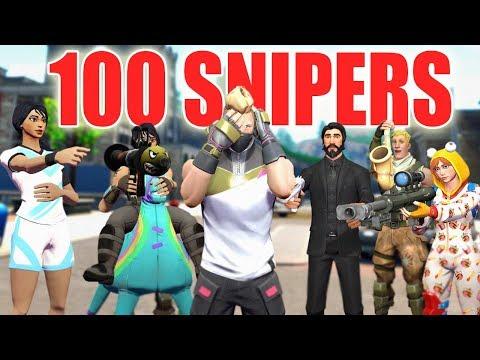 99 jugadores haciendome stream snipe! (FORTNITE)