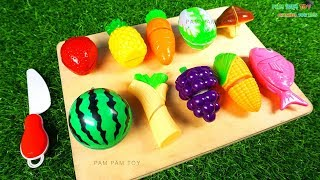 Play fruits and vegetables toys for kids Learn colors and number
