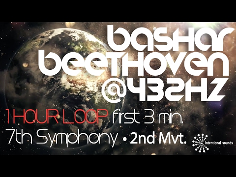 ☯ BASHAR ☯  BEETHOVEN @ 432Hz  ♦ 1 HOUR  LOOP 7th SYMPHONY  MVT. II  of the first 3 min..