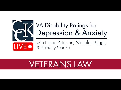 VA Disability Ratings for Depression and Anxiety