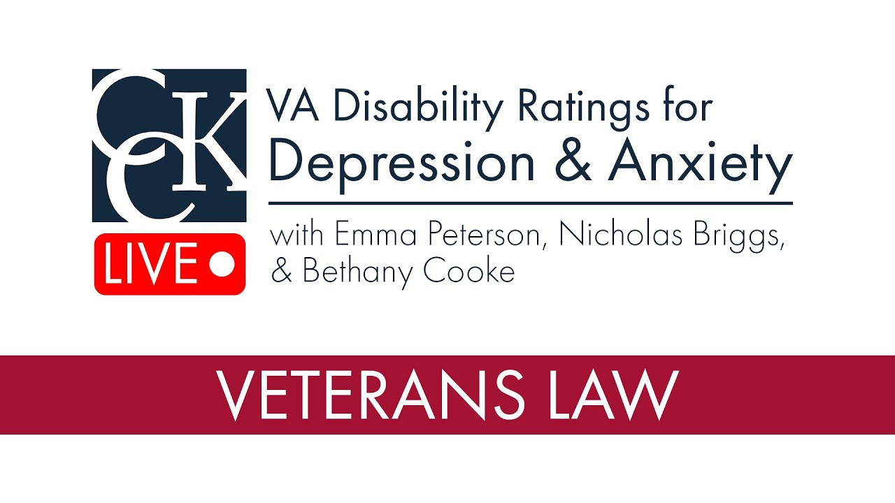 VA Disability Ratings for Depression and Anxiety - YouTube