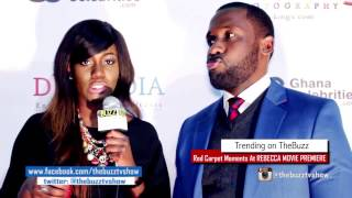 Shriley Frimpong-Manso quotRebeccaquot UK Movie Premiere with Joseph Benjamin and Yvonne Okoro
