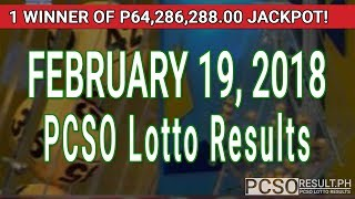 PCSO Lotto Results Today February 19, 2018 (6/55, 6/45, 4D, Swertres, STL & EZ2)