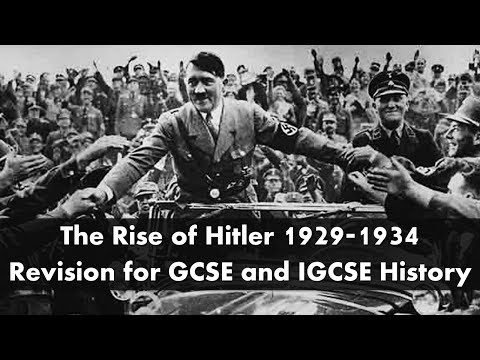 The rise of Hitler 1929-1934: revision for IGCSE & GCSE History exams