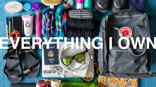 EVERYTHING I OWN | minimalist full-time travel