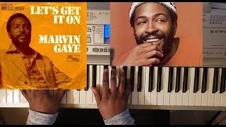 MARVIN GAYE - LET'S GET IT ON (PIANO TUTORIAL) Eb Major