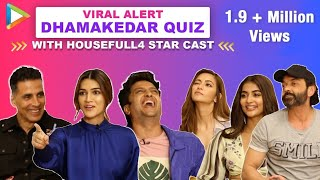 TRY NOT TO LAUGH: Akshay, Riteish & Housefull 4 co-stars' HILARIOUS FIGHT | Quiz | Kriti | Bobby
