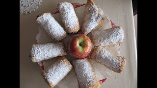 Штрудель из слоеного теста с яблоками. Простой рецепт.