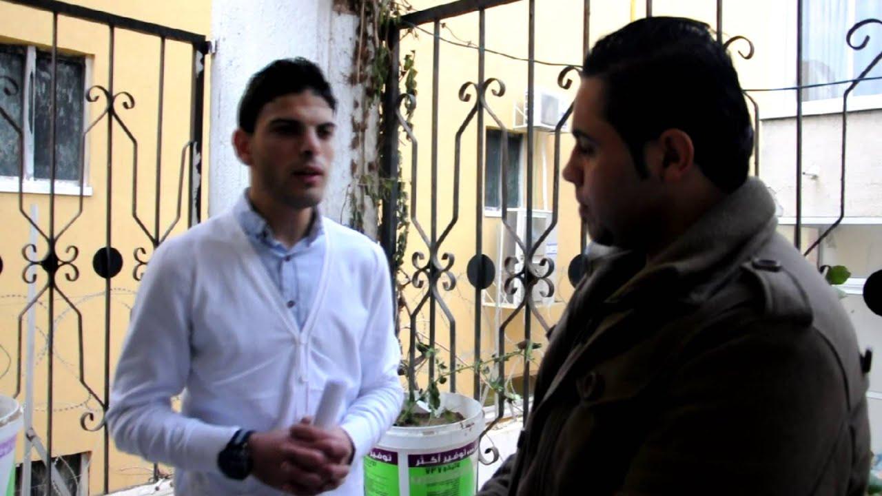مقابلة الاعلامي كرم ابو زنادة في حفل افتتاح معرض
