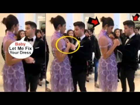 Priyanka Chopra's CUTE Video Of Hubby Nick Jonas HELPING Her Fix Dress In Front Of Public At Cannes