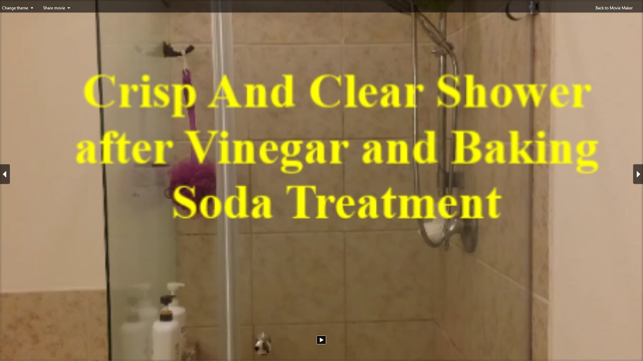 Crisp Clean And Clear Shower With Vinegar Baking Soda