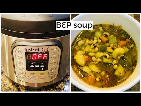 Instant Pot || Black Eyed Peas Soup || Cooking For Soul