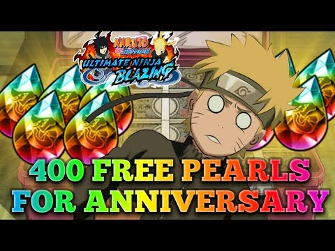 400 FREE PEARLS FOR ANNIVERSARY!!! NEW EVENT DETAILS + MORE!!! NARUTO BLAZING