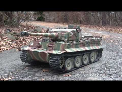 Vintage RC 1/6th scale armortek early production Tiger I Vid