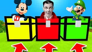 Minecraft PE : DO NOT CHOOSE THE WRONG CHEST! (Mickey Mouse, Vampire & Luigi)