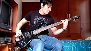 White town - your woman bass cover.