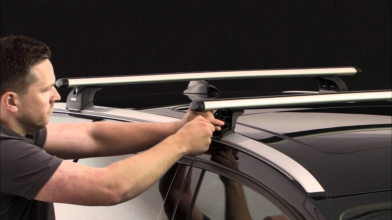 roof racks thule rapid system 753 kit 184 youtube. Black Bedroom Furniture Sets. Home Design Ideas