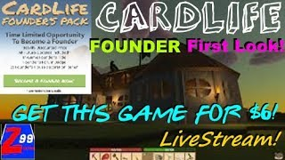 Cardlife - a brand new voxel open world multiplayer game in development!  first look! - livestream!