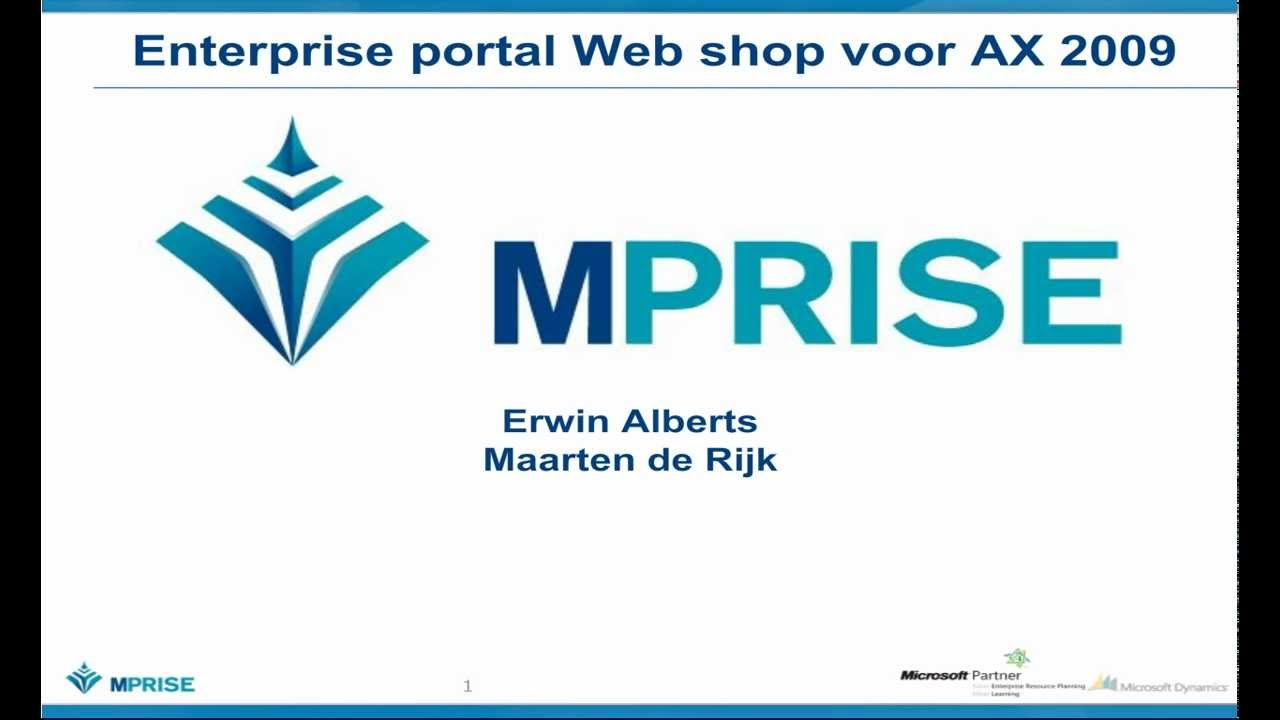 Ax pre requisites to install dynamics ax 2009 and enterprise portal - Dynamics Ax Enterprise Portal Customer Self Service