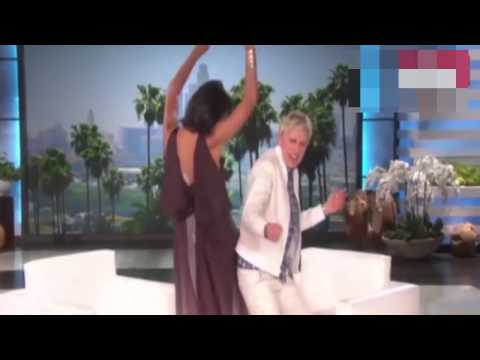 Rosario Dawson and Ellen DeGeneres dance to Uptown Funk before chatting about