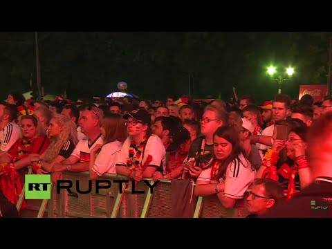 LIVE from Berlin fan zone during France-Germany Euro 2016 semi-final match