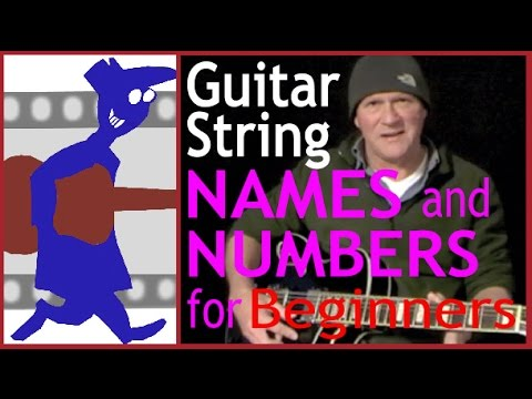 guitar string names and numbers for beginners youtube. Black Bedroom Furniture Sets. Home Design Ideas