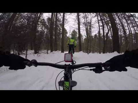 Fat Biking At Durham Forest Slip Slidin' Away Part 1