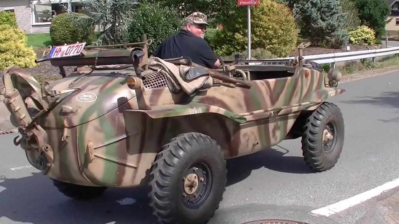 mit dem auto in die weser gefahren vw schwimmwagen typ 166 volkswagen wehrmacht 116 panzer. Black Bedroom Furniture Sets. Home Design Ideas