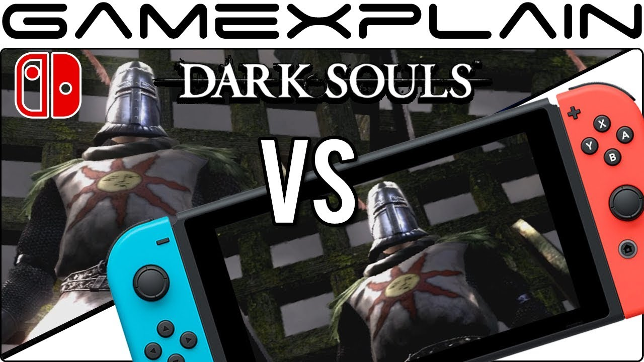 Dark Souls: Remastered - Docked Vs Handheld Graphics Comparison (Nintendo Switch)