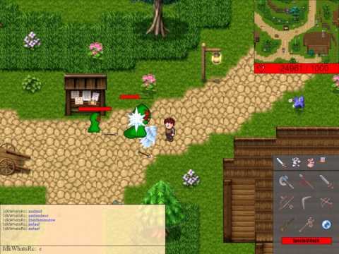 HTML5 MMORPG: Major Improvements! Animations + Online Chat