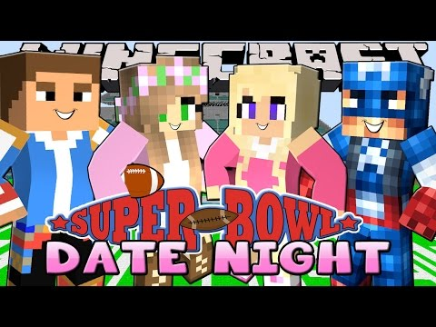 Minecraft - Little Kelly Date Night : SUPERBOWL DOUBLE DATE!