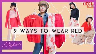 9 Ways To Wear RED!