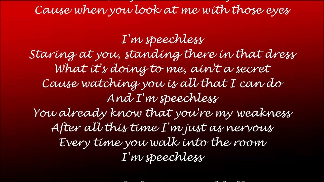 Speechless Lyrics