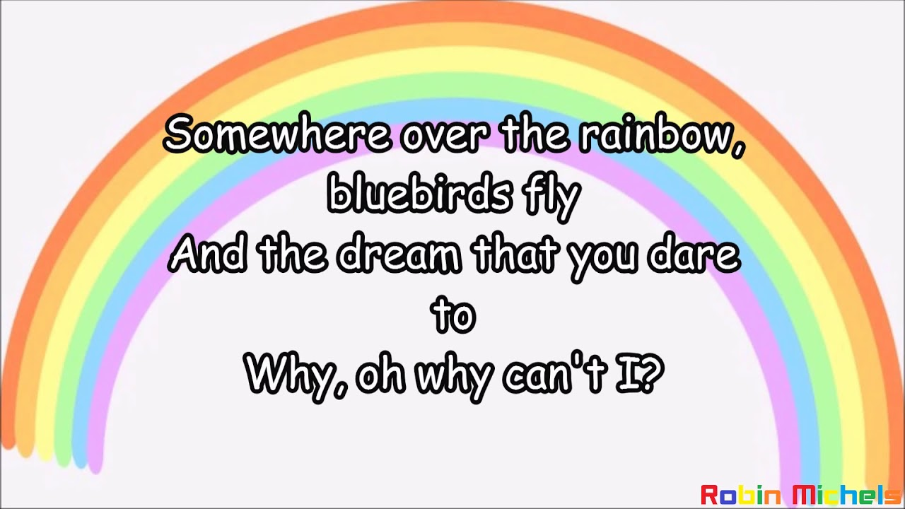 Israel Kamakawiwoʻole Over The Rainbow Lyrics Text Youtube
